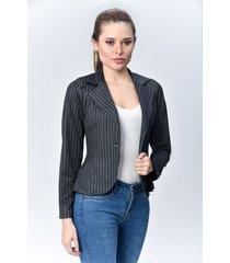 chaqueta blazer dama negro di bello jeans  classic jacket ref c082