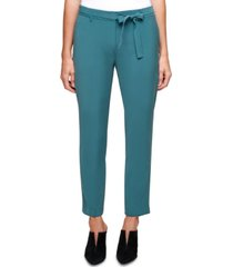 dkny belted mid-rise ankle pants