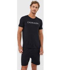 pijama calvin klein underwear logo preto