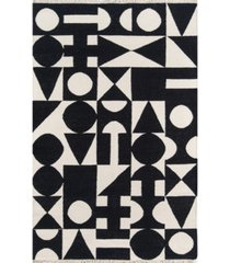 "novogratz topanga top-3 black 7'6"" x 9'6"" area rug"
