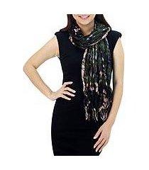 silk scarf, 'forest mystique' (thailand)