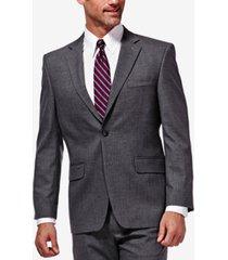 j.m. haggar men's classic/regular fit stretch sharkskin suit jacket