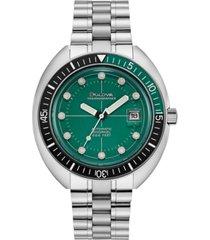 bulova men's automatic devil diver stainless steel bracelet watch 44mm