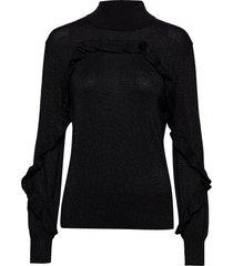 nailah gebreide trui zwart munthe