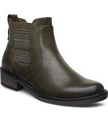 woms boots shoes boots ankle boots ankle boots flat heel grön tamaris