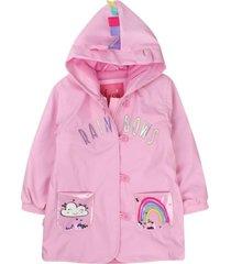 chaqueta impermeable must have rosado ficcus