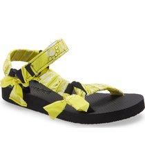 arizona love trekky bandana sandal, size 7us in yellow at nordstrom