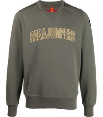 parajumpers logo front quilted sweatshirt - green
