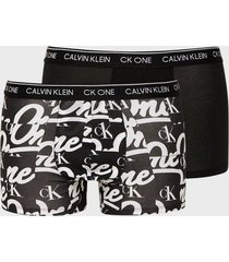 calvin klein underwear trunk 2pk boxershorts svart