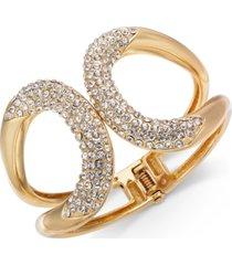 thalia sodi pave crystal hinge bracelet, created for macy's
