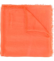 faliero sarti lightweight silk scarf - orange