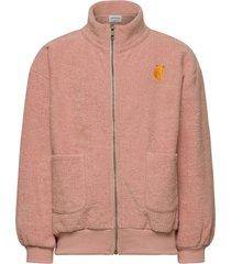 terry towel zipped sweatshirt sweat-shirt trui roze bobo choses