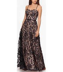 xscape 3d floral gown
