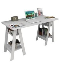 mesa escrivaninha cavalete self esc 3003 branco - appunto