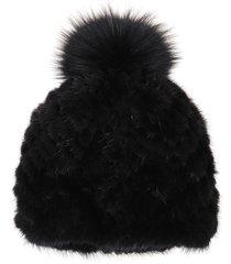 black mink fur hat