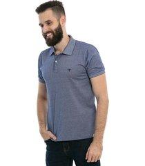 camisa polo d'affari contrastante masculina