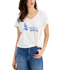 style & co petite buoy bye t-shirt, created for macy's