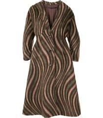 muller of yoshiokubo swirl-print mid-length coat - brown