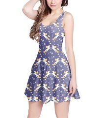 golden unicorns sleeveless dress