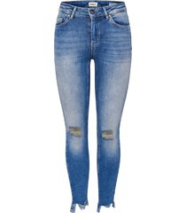 jeans blush mid enkel destroyed hem