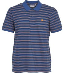 carhartt blue striped polo shirt