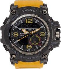 reloj amarillo-negro virox