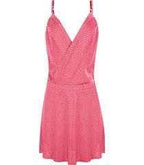 vestido linda d+ poá rosa