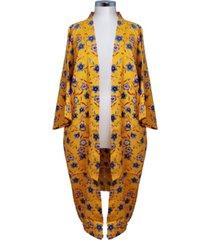 marcus adler floral print kimono