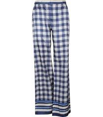 alberta ferretti checked wide trousers