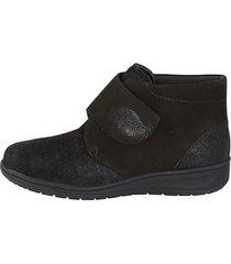 skor med kardborreband solidus svart