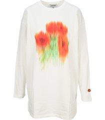 kenzo floral sweatshirt-dress