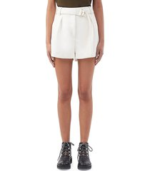 3.1 phillip lim women's origami belted shorts - black - size 2