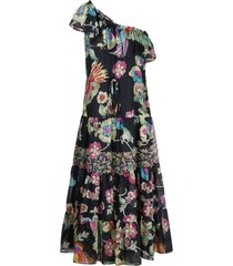 red valentino bird printed dress