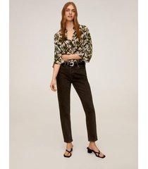 bedrukte blouse