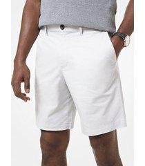 mk shorts in popeline delavé - grigio perla (grigio) - michael kors