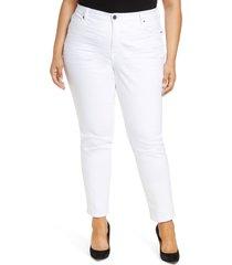 plus size women's kut from the kloth catherine boyfriend jeans, size 24w - white