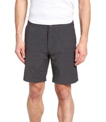 men's faherty all day flat front shorts, size 40 - grey