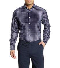 men's eton soft casual line contemporary fit check button-up shirt