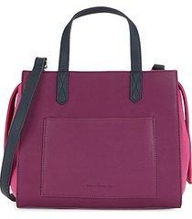 barton faux leather satchel