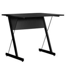 mesa para computador escrivaninha zetta 120cm preto - fit mobel