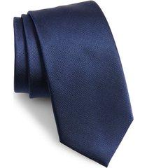 men's the tie bar solid silk tie, size x-long - blue