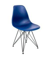cadeira de cozinha eames azul marinho