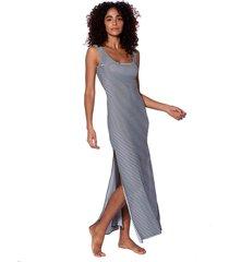 white and blue long tank dress