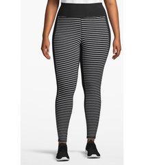 lane bryant women's active legging - contrast front 22/24 black