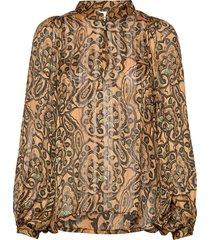 eleven ls blouse blouse lange mouwen oranje second female