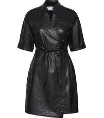 marie wrap dress dresses everyday dresses svart designers, remix