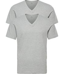 double pack v-neck tee t-shirts short-sleeved grå tom tailor