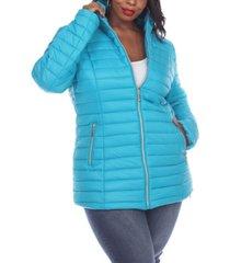 white mark women's plus size puffer coat