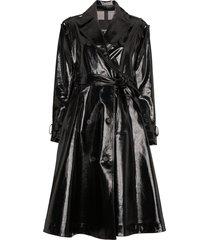 calvin klein 205w39nyc vinyl trench coat - black