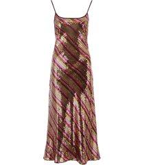 rixo long sequined dress